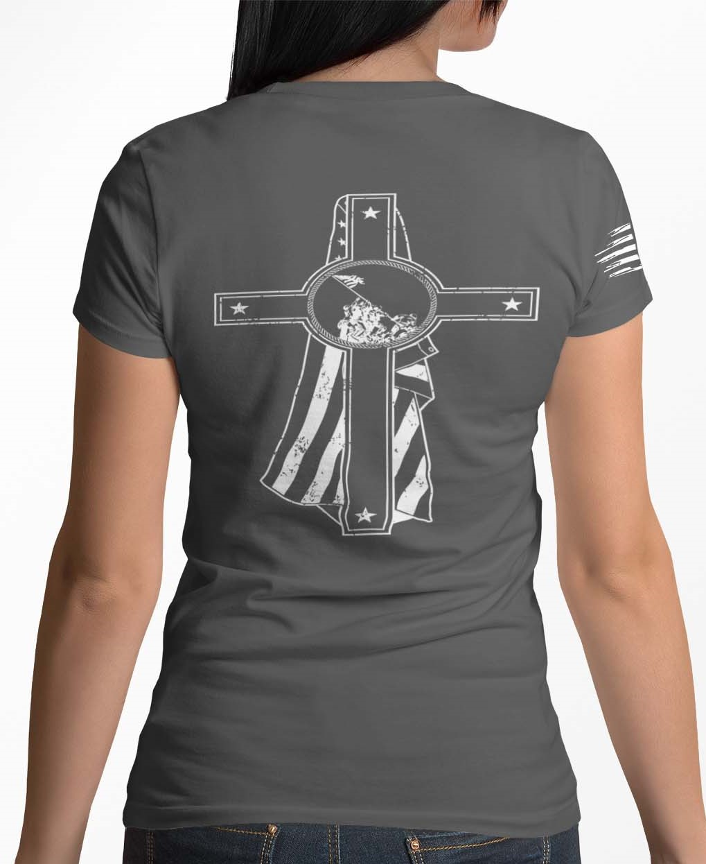 Memorial Day on a womens charcoal tshirt
