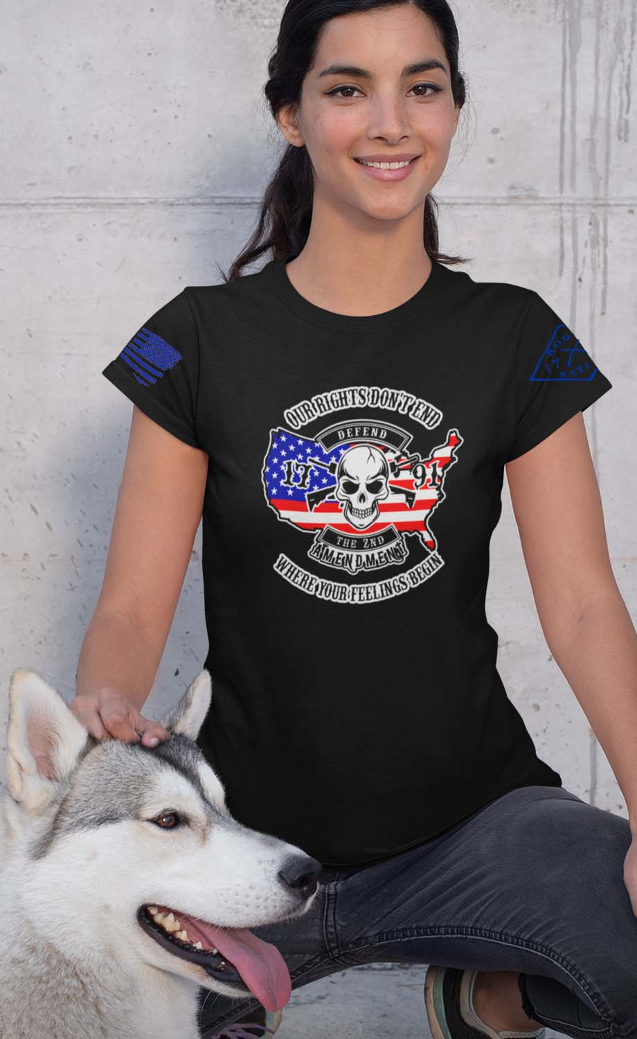 Our Rights Don't End Womens Tshirt in Black