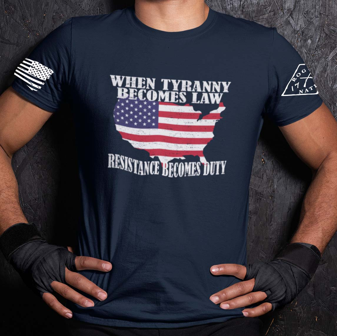 When Tyranny becomes Law Tshirt in Navy