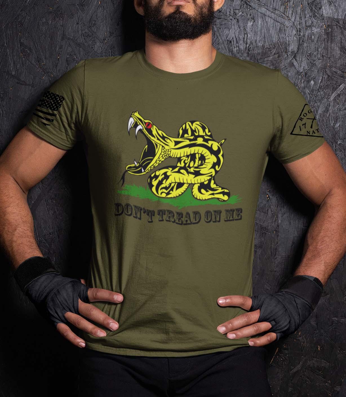 Modern Gadsden on a Men's Army T-Shirt