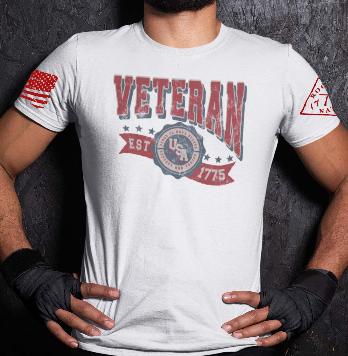 Veteran in the USA on a White T-Shirt Men's