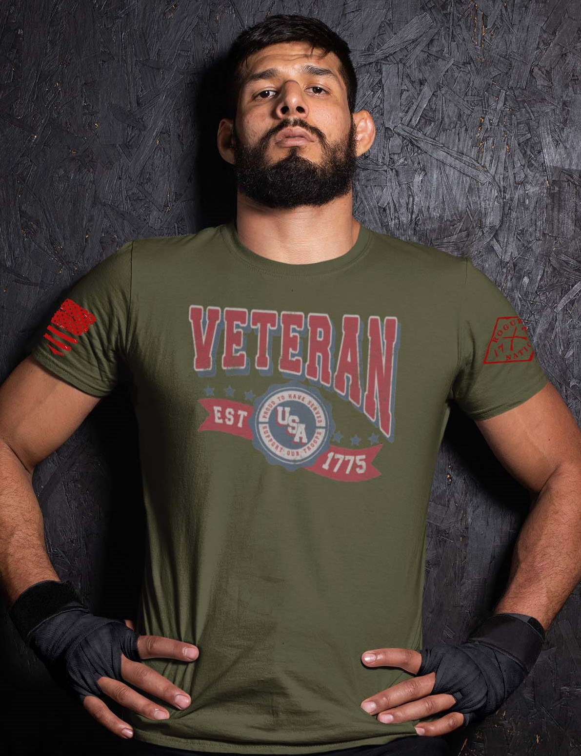 Veteran in the USA on a Army T-Shirt Men's